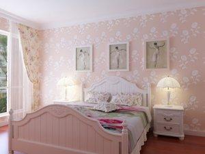 卧室硅藻泥图片 粉色浪漫欧式装修案例