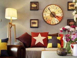 复古美式混搭三居硅藻泥装修效果图 多彩暖宅年轻人最爱的空间