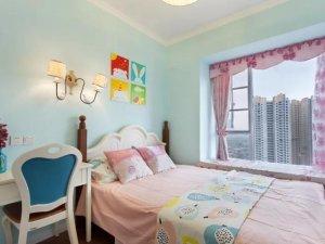 88㎡现代美式居室 硅藻泥墙面装修效果图