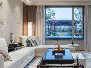 新中式风格客厅硅藻泥装修效果图 展现现代中式的美