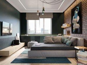 北欧风格卧室硅藻泥装修效果图 平静而柔和的色调