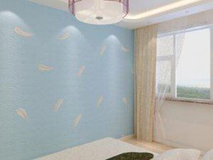 现代简约小清新卧室硅藻泥墙面装修效果图