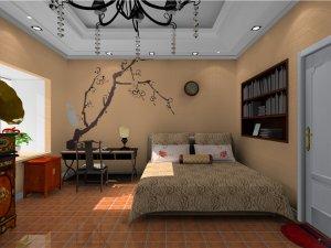 康力硅藻泥装修图片 卧室硅藻泥装修效果图