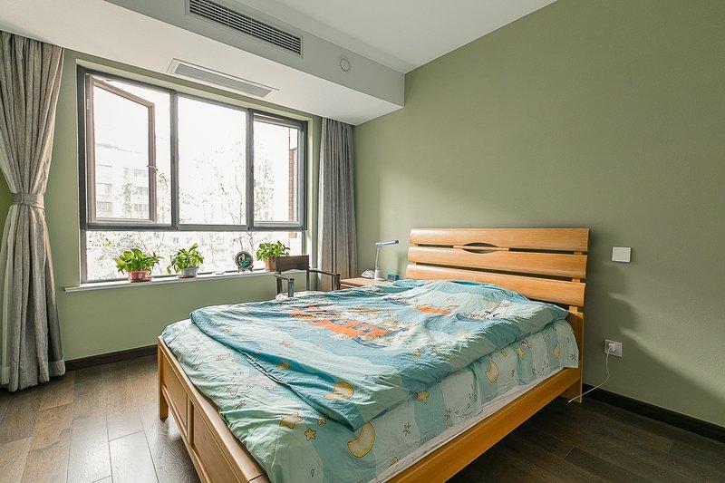 新中式风格硅藻泥图片 儿童房绿色硅藻泥装修效果图