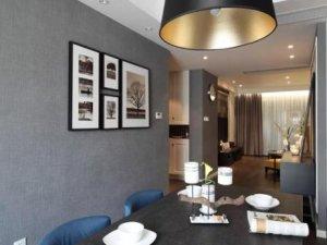 简约风格硅藻泥墙面图片 餐厅灰色硅藻泥装修效果图
