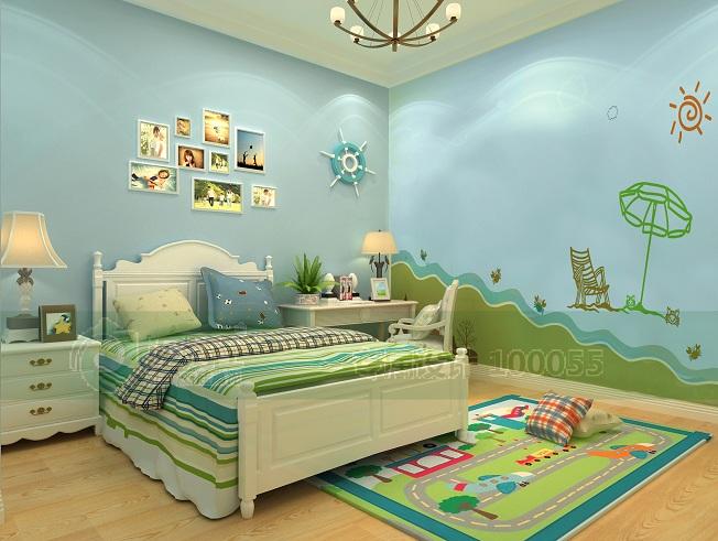 泥博士硅藻泥装修效果图 儿童房硅藻泥效果图