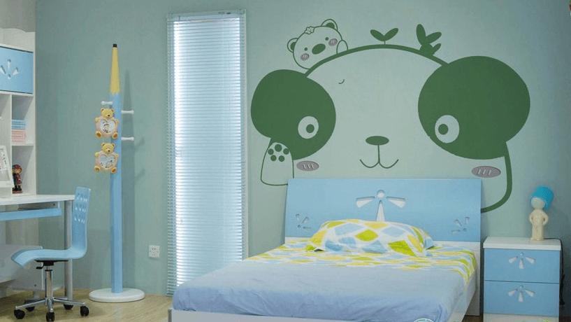 艺安居硅藻泥装修效果图 儿童房装修效果图