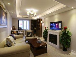 现代风格硅藻泥装修效果图 客厅白色硅藻泥装修图片