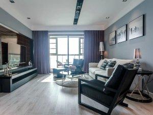 现代简约风格硅藻泥装修图 客厅灰色硅藻泥装修效果图
