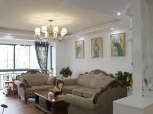 现代简约风格硅藻泥装修效果图 客厅白色硅藻泥装修图片