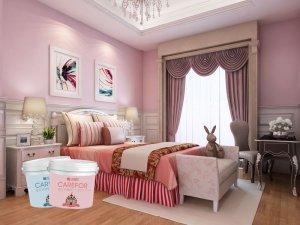 卡西米硅藻泥装修效果图 卧室装修效果图