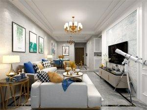 现代风格硅藻泥装修效果图 客厅电视背景墙硅藻泥图片