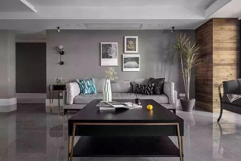 五棵松硅藻泥装修效果图 高级灰墙面装修图片_18
