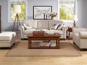 美式风格硅藻泥墙面装修风格 客厅经典大气装修效果图