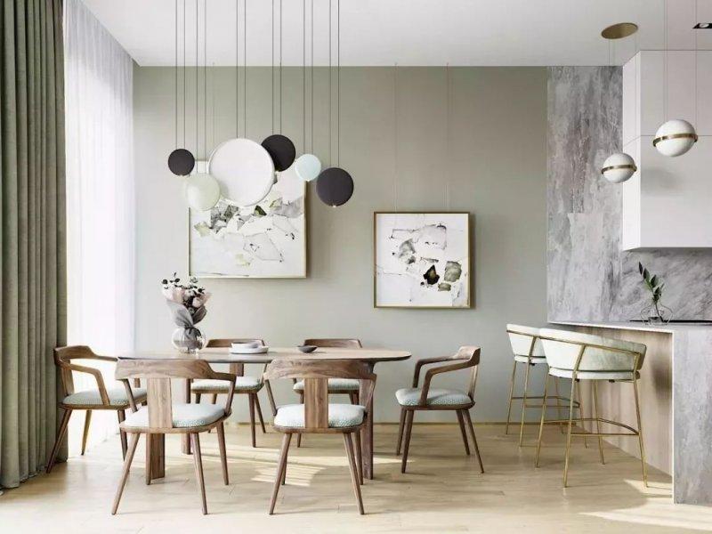 绿赫硅藻泥图片 北欧现代家装效果图
