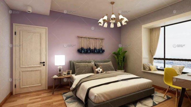 宏燕艺术壁材图片 工业、北欧风卧室效果图