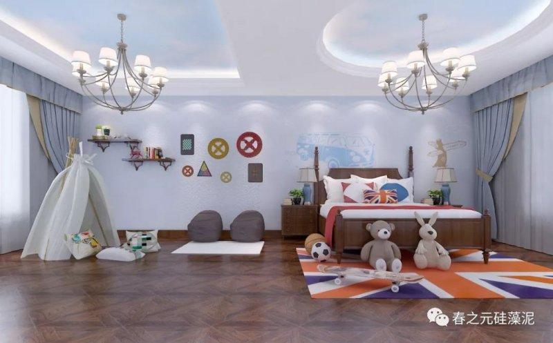 春之元硅藻泥图片 儿童房装修效果图