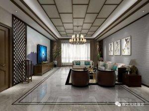 春之元硅藻泥装修效果图 302m²新中式风家居图片