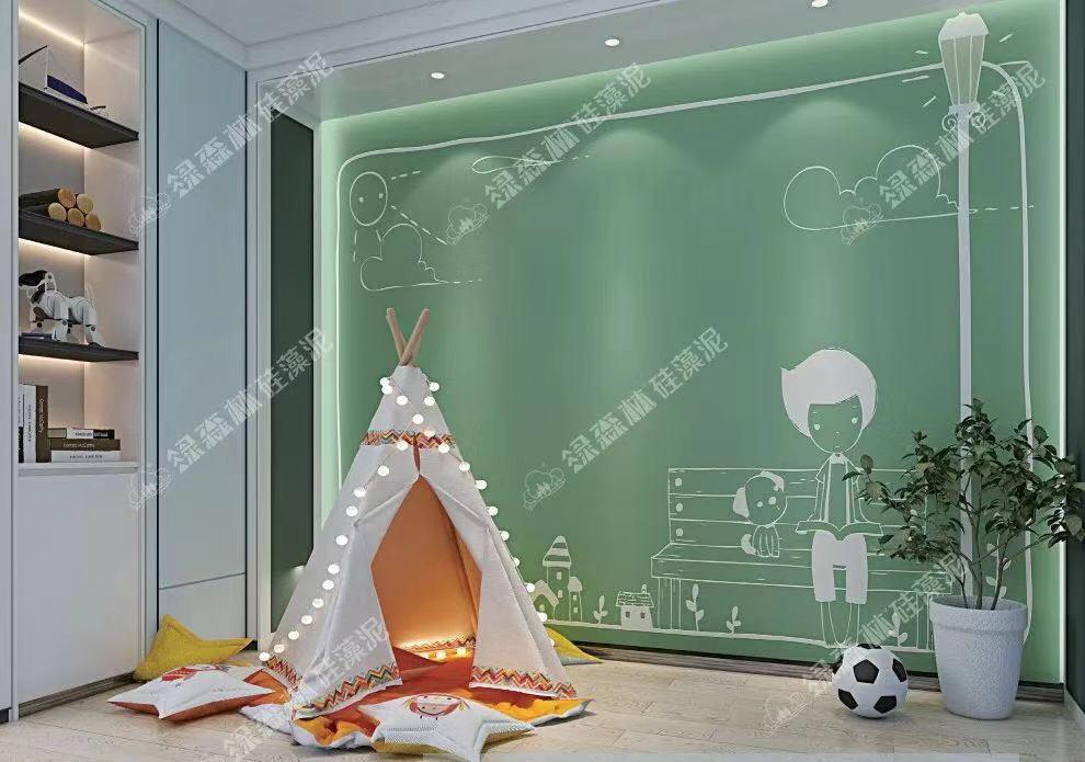 綠森林硅藻泥圖  臥室裝修效果圖