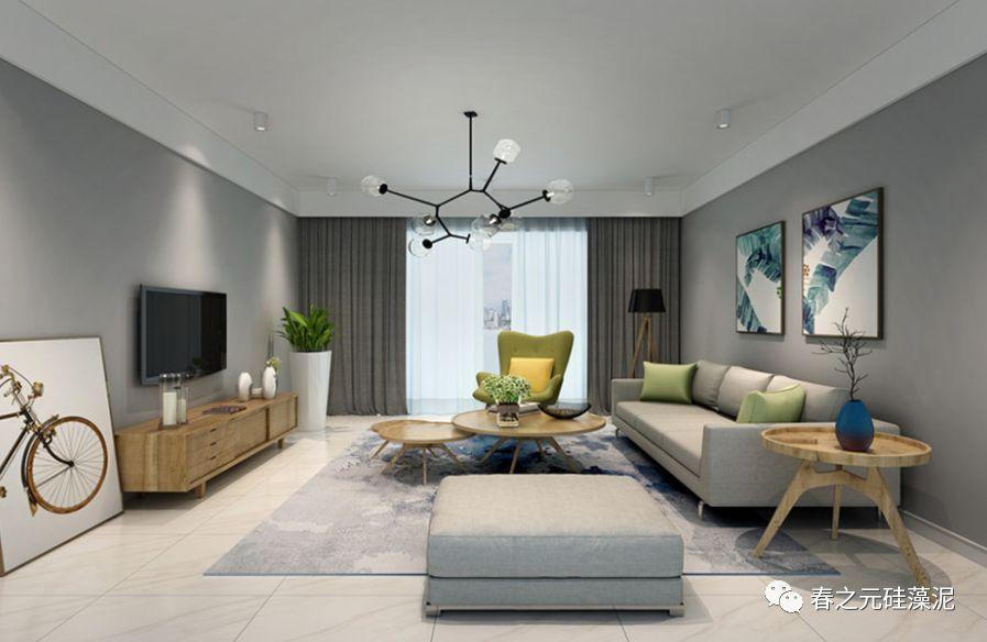 春之元硅藻泥图片 多种家装风格装修效果图