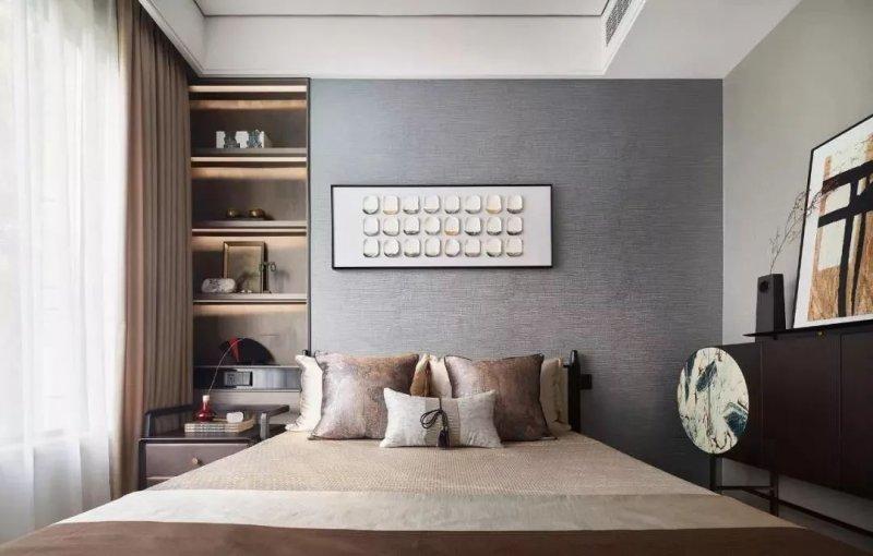 新中式风格硅藻泥装修效果图 中国风样板房装修图片