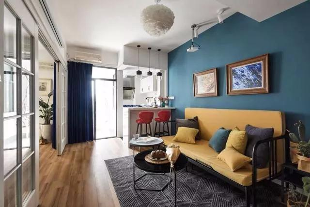 混搭风格硅藻泥装修图片 单身公寓装修效果图