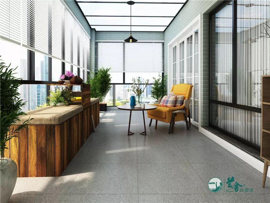 兰舍硅藻泥图片 阳台装修效果图