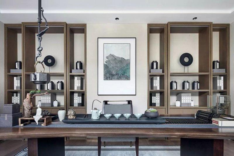 大督硅藻泥图片 新中式家居装修效果图_44