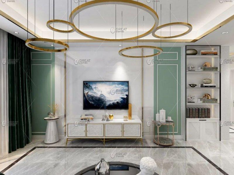 宏燕艺术水漆图片 现代轻奢风格家居装修效果图