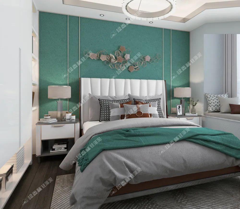 绿森林硅藻泥图片 现代轻奢家装效果图