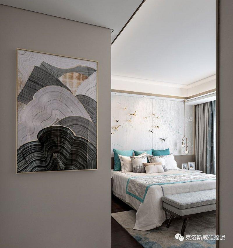 克洛斯威硅藻泥硅藻泥效果图 中式雅奢风格装修图片_10