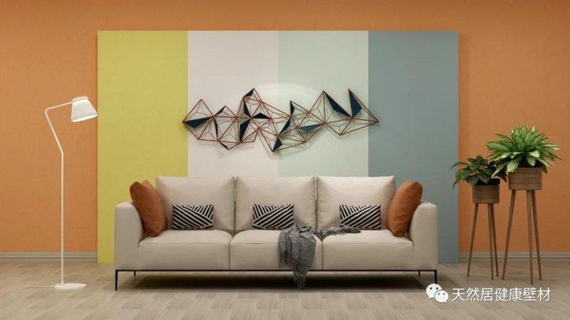 天然居硅藻泥背景墙装修图片_5