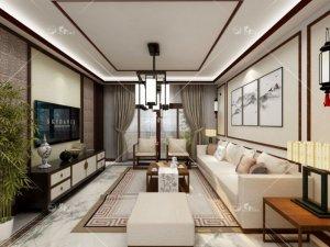 兰舍硅藻泥新中式风格家居装修图片