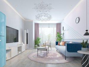 蓝天豚硅藻泥多彩家居装修图片