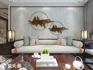 蓝天豚硅藻泥客厅家居装修图片