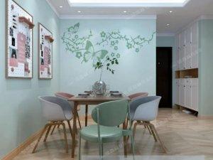 绿森林硅藻泥效果图 硅藻泥背景墙装修图片