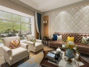 和一硅藻泥效果图 温暖美式风格家居装修图片
